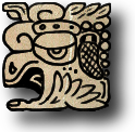 This is the glyph for the Baktun position.  The number glyphs to the left show 12 Baktun in this day's long count.